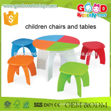 Preschool Kids Study Colorful Multifunctional Wooden Learning Table Set