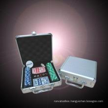 Deluxe 300 Chip Aluminum Poker Chip Case - New! Aluminum Poker Chip Case