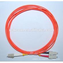 SC / LC Duplex MM Cable de conexión de fibra óptica