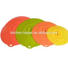 Top Sell Durable Fácil de usar como se ve en la TV Silicona estiramiento tapa / tapa de silicona Pot Cover / Silicone succión tapa