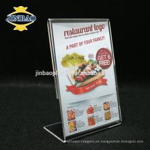 Jinbao acrílico publicidad pantalla marco al por mayor