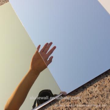 High Quality Silver/ Golden Mirror anodized Aluminum Composite Panel/Alucobond ACP