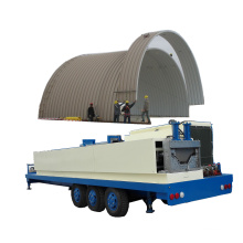SX-ABM-1000-630 hydraulic no beam steel sheet shed/shack roof cold roll making machine arch roof forming machine