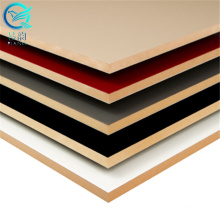 18mm 4x8 mdf with melamine film sheet/melamine laminated mdf board for furniture and kitchen cabinet/2800x5500 big size
