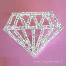Forma de diamante botón de oro pins broche de hombro