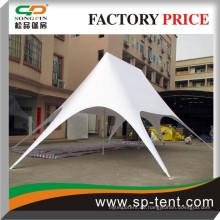 Haltbares festes weißes PVC-Sternzelt 2 Oberseiten 10x14x5m (W * L * H)