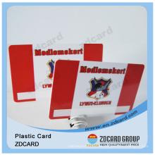 Tarjeta de identificación plástica del PVC / tarjeta de visita transparente