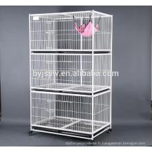 Cage d'embarquement de chat de fil pour le spectacle de chat