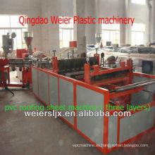 máquina de fabricación de tejado corrugado plástico del pvc de tres capas