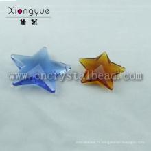 Cristal forme étoile coloré de haute qualité perle