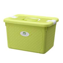 Fashionable Weave Design Plastic Storage Box with Handle (SLSN044)