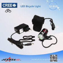 Jexree precio bajo 1 * CREE XM-L T6 Ángulo Ojos recargable llevado luz de la bici / luz impermeable con 18650 batería
