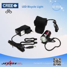 Jexree низкая цена 1 * CREE XM-L T6 Angle Eyes перезаряжаемый светодиодный фонарик для велосипеда / водонепроницаемая головная лампа с 18650 батарейным блоком