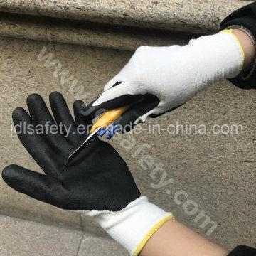 ANSI corte nivel A2 trabajo guante recubierto de nitrilo