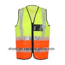 New Fashion High-Visibility Reflektierende Sicherheitsweste Orange und Gelbes Gelenk