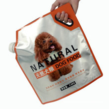 Matt Spout Pouch  Laminated Packaging with lid  dog food cheap pet food bag