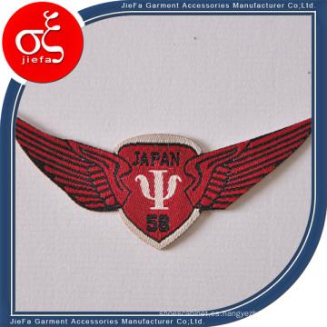 Emblema, parche y placa tejida de encargo del precio de fábrica