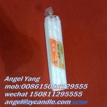 20CM LONG CANDLES WHITE HOUSE HOLD