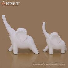 home interior decor fengshui craft cute resin white elephant statue