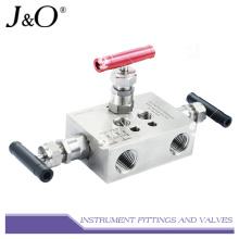 Manifold de válvulas para instrumentos de drenagem de aço inoxidável