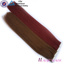 Large Stock Top Quality Russian Double Drawn Remy Tape In Hair Extensions