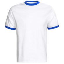 Camiseta de algodón suave del equipo del algodón de los hombres orgánicos de la composición del algodón