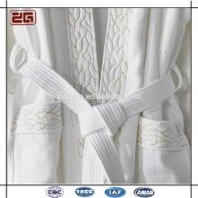 5 Sterne Hotel Kimono Coral 100% Cotton Terry Jacquard Bademantel Für Spa und Hotel