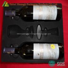 Flocage de plateau de bouteille de vin rouge