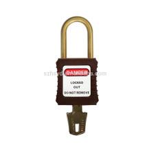 Homologación CE bloqueo de nylon aislamiento anti deslizamiento 38 mm candado de seguridad