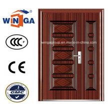 Mittlerer Markt Außen Sicherheit Stahl Metall Eisen Tür (W-SZ-07)