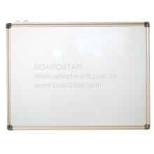 Pizarra blanca de melamina no magnética con marco de aluminio para colgar (BSNCL-B)