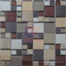 Aluminium and Glass Mixed Mosaic Tiles (CFM991)