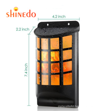 Led Waterproof LED Solar Garden Wall Light Flickering Flame Candle Outdoor Lighting Hanging Smokeless Solar Lamp