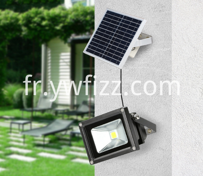 Outdoor solar floodlights