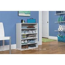 Gabinete de sapato de madeira de madeira branca de 5 penas (HHSR06)