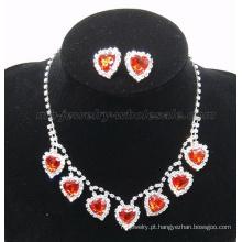 2014 novo na moda falso vidro pedra colar de pedras preciosas