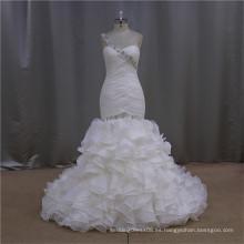 La manera del amor de la alta calidad rebordeó el vestido de boda de organza pekín