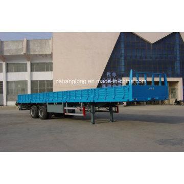Semi-remorque à conteneur à deux essieux ou à cargaison