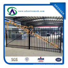 Powder Coated Welded Steel Fence