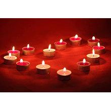 Разноцветная ароматическая свеча Tealight в алюминиевом корпусе