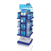 Four-Sided Acrylic Display Stand, Pop Advertising Display Rack