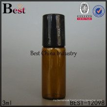 3ml mini amber tube vials with roll on, painting color, logo printing, 2 free samples