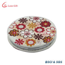 Custom Leather PU Flower Cosmetic Mirror Advertisement