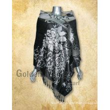 Jacquard design 100% viscose pashmina scarf