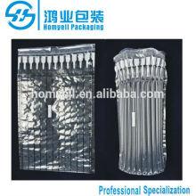 plastic air bag packaging for toner cartridge HP6511/27X/column air cushion warpping/air filling packaging