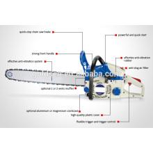 """62cc 20 """"-22"""" 2800W Início Gasolina Chain Saw CE / GS / EMC / EU2 GW8235"""
