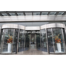CE approved commercial building exterior automatic revolving doors
