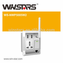 500Mbps high speed HD video streaming powerline adapter,home AV Wall PowerLine adapter up to 300M
