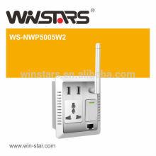 Adaptador de rede elétrica de transmissão de vídeo HD de alta velocidade de 500Mbps, adaptador de parede Power Wall da AV de até 300M