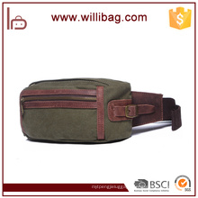 Vintage Canvas Messenger Waist Hiking Travel Zipper Canvas Waist Bag